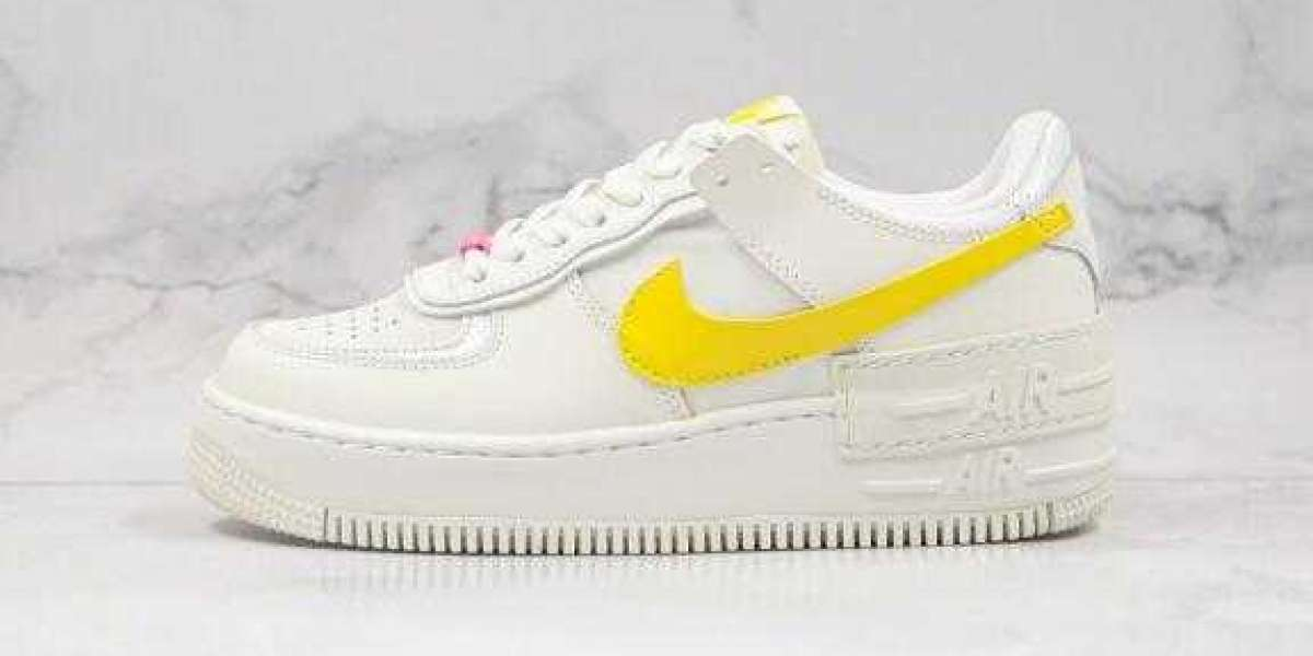 2020 Nike WMNS Air Force 1 Shadow Milky White Yellow